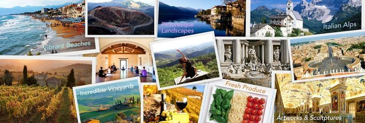 Italy: The Nest Of Mediterranean Art & Culture  Being the nest of Western philosophy and modern thinking, Italy is culturally rich and the influence of the legendary artists can be seen in every corner.  yoga retreat and meditation in italy, tuscany vineyards, vatican city, Italian artworks and sculptures, volcanic craters, Italian food, Italian alps