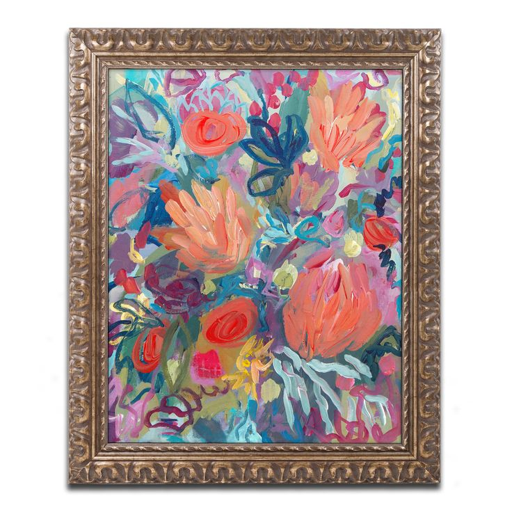 Carrie Schmitt 'Mil Besos' Ornate Framed Art