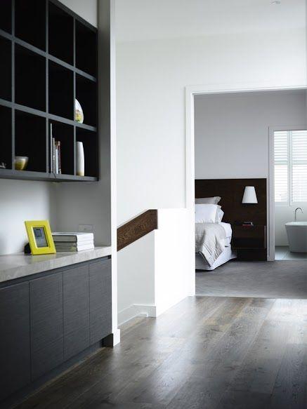 Navlam Sandblasted™ Arcadian Oak Austin Design beautiful hallway and bedroom joinery.