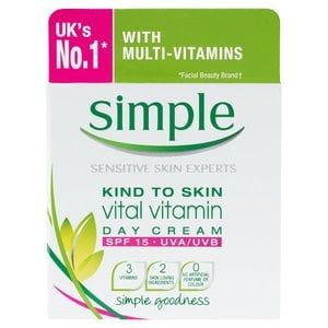 Simple Kind To Skin Vital Vitamin Day Cream SPF 15 50ml