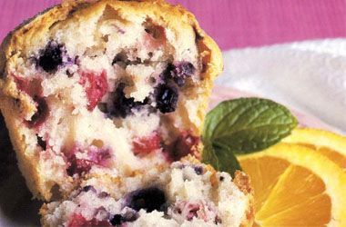 Craisens and Blueberry muffins... maybe sub sugar with honey and add some oats and call it breakfast...