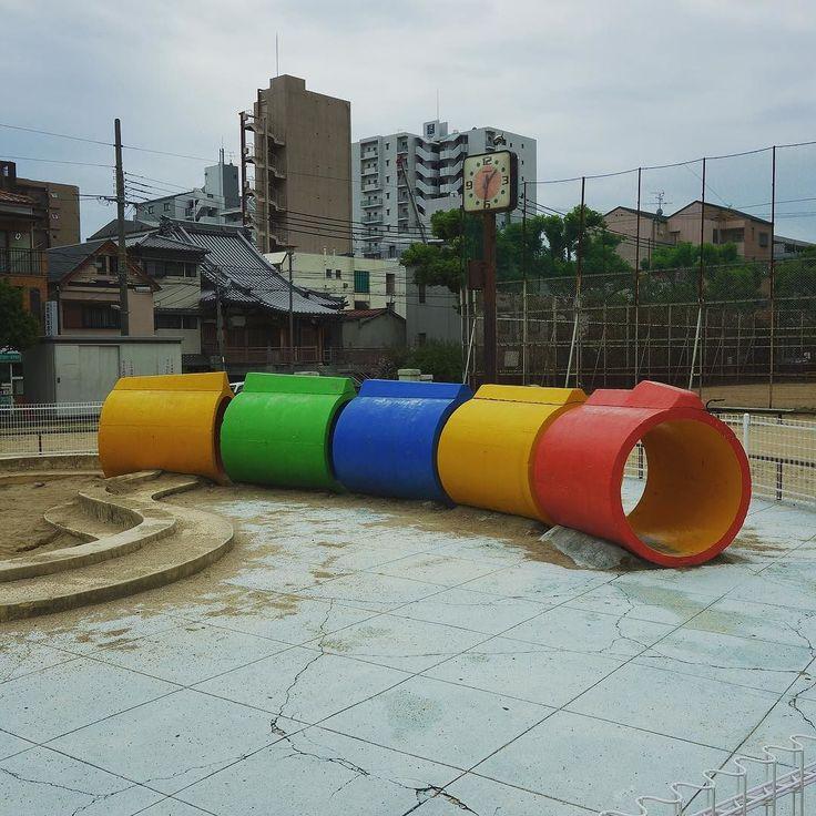 仕事で行った先が昔よく遊んだ公園の横遊具も50年前のままでございました . . . #神戸百景 #神戸 #city #kobe #location #神若公園