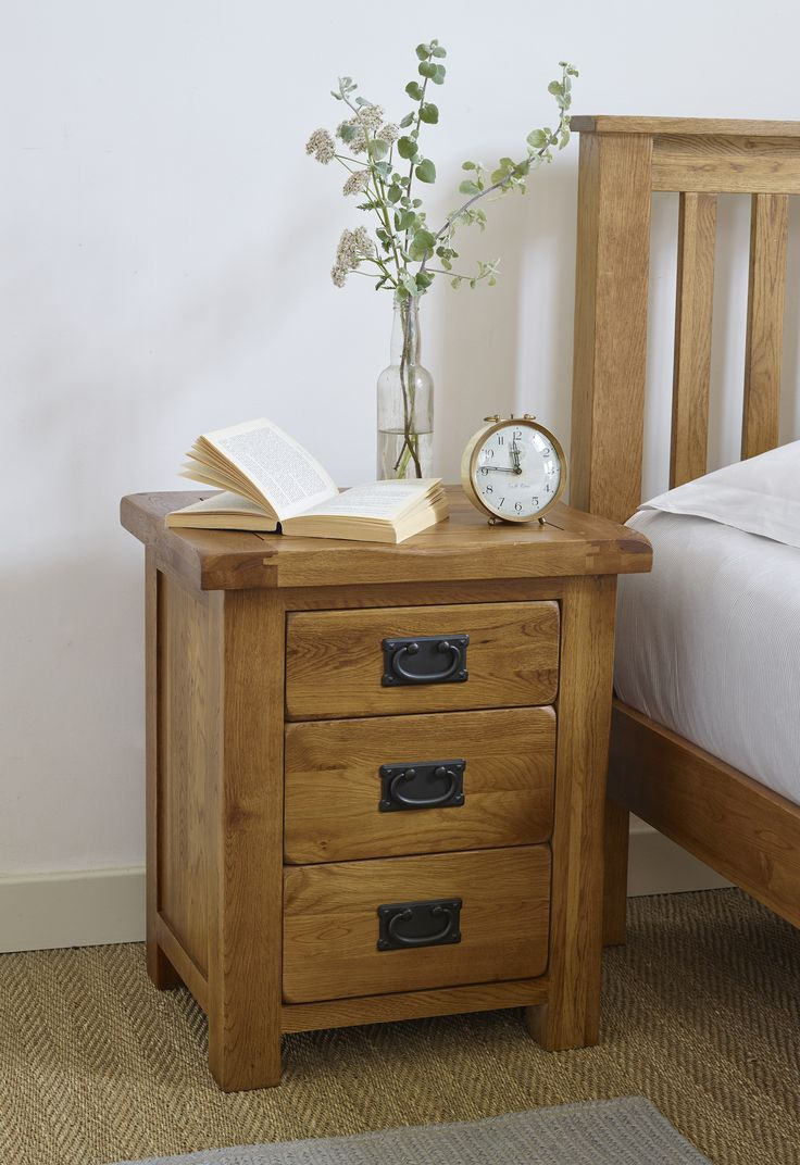 The Original Rustic Solid Oak Three Drawer Bedside Cabinet is both an essential bedroom item and a beautifully crafted piece of classic oak furniture. In line with the traditional, home-spun charm of this popular collection, our craftsman use time-honoured techniques to ensure exceptional durability and strength.