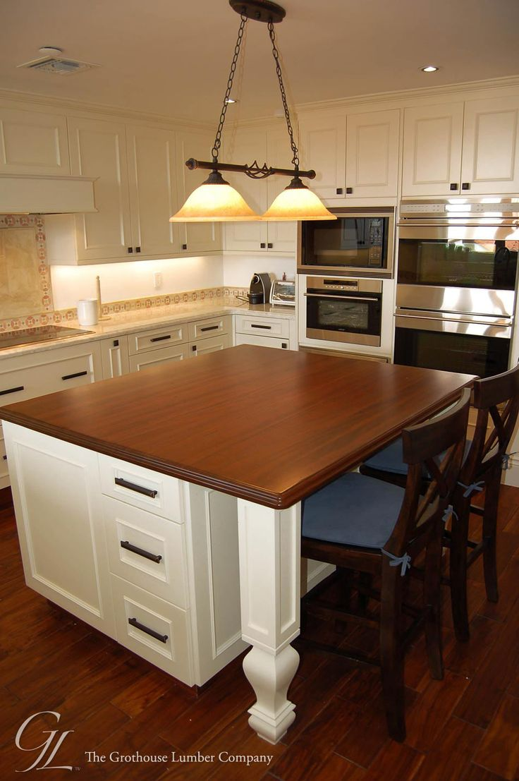 wood kitchen island top custom mahogany wood countertop in miami florida 1595