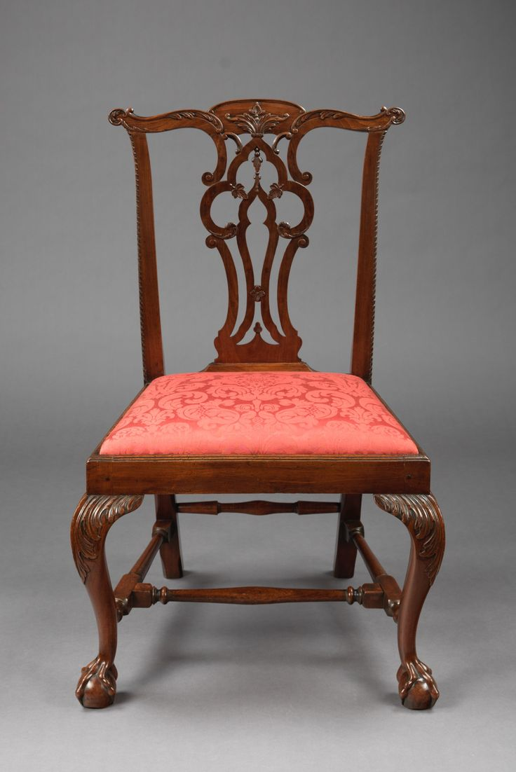 Queen anne chair history - Rare Chippendale Carved Side Chair Boston Circa 1765 Primary Wood Mahogany