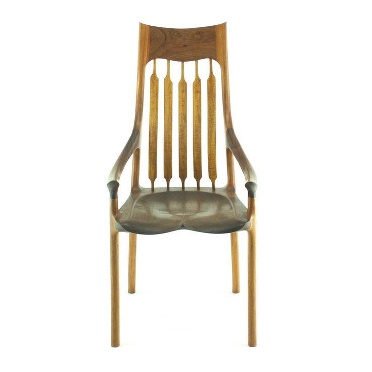 Sculpted dining chair - one of my favourite chairs I build. Designed by drawing a · Sam MaloofFine ...
