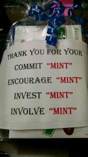 Made this for our Youth Pastor...filled with all types of mints