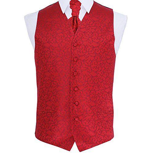 """230 kr. (Findes i mange forskellige farver) New DQT Swirl Jacquard Men's Waistcoat, Cravat & Hanky - All Sizes (50"""", Burgundy) DQT http://www.amazon.co.uk/dp/B00DECZOXY/ref=cm_sw_r_pi_dp_iBm3wb0NGNTGA"""