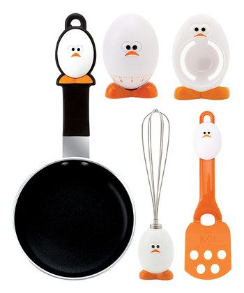 This kit allows you to make a very generous breakfast to your loved ones. The kit includes a small frying pan, server, timer, wire separator egg - yolk from  online e-shop www.gifts4all.gr