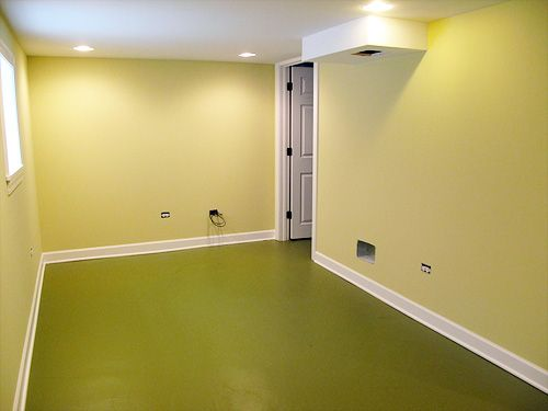 so miss our basement for the kids to use as a playroom. love the colors she used for the walls and floor in this basement remodel.