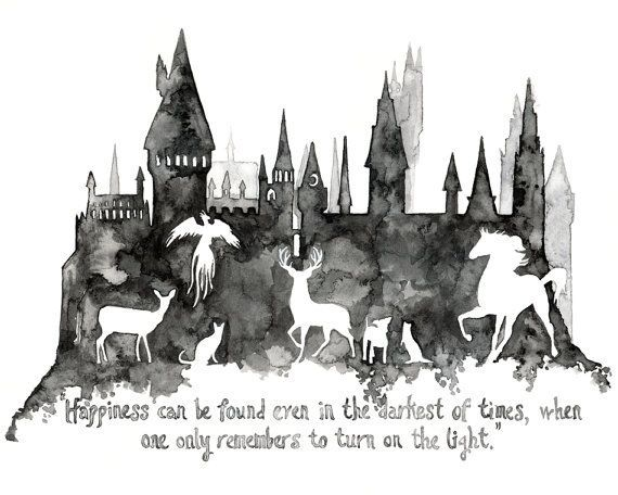 Harry Potter large prints size 16 x 20 and from TheColorfulCatStudio