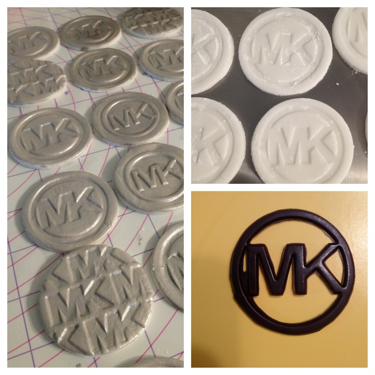 Michaels Cake Decorating Toppers : Michael Kors handmade fondant cupcake toppers & chocolate ...