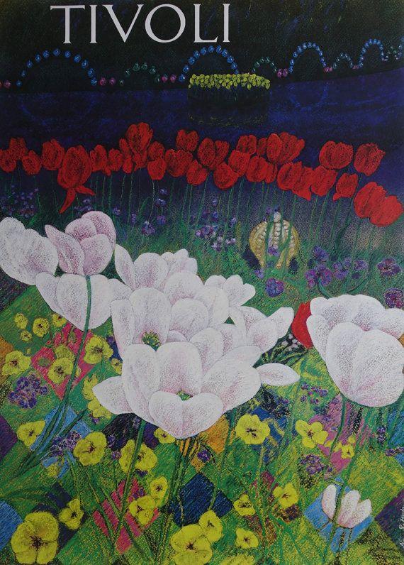 1991 Tivoli Gardens by Naja Salto  Original by OutofCopenhagen