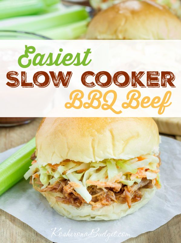 Easy Kosher BBQ Beef Recipe in the Slow Cooker
