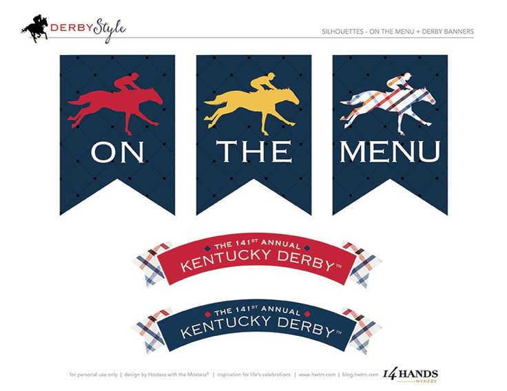 kentucky derby free party printables