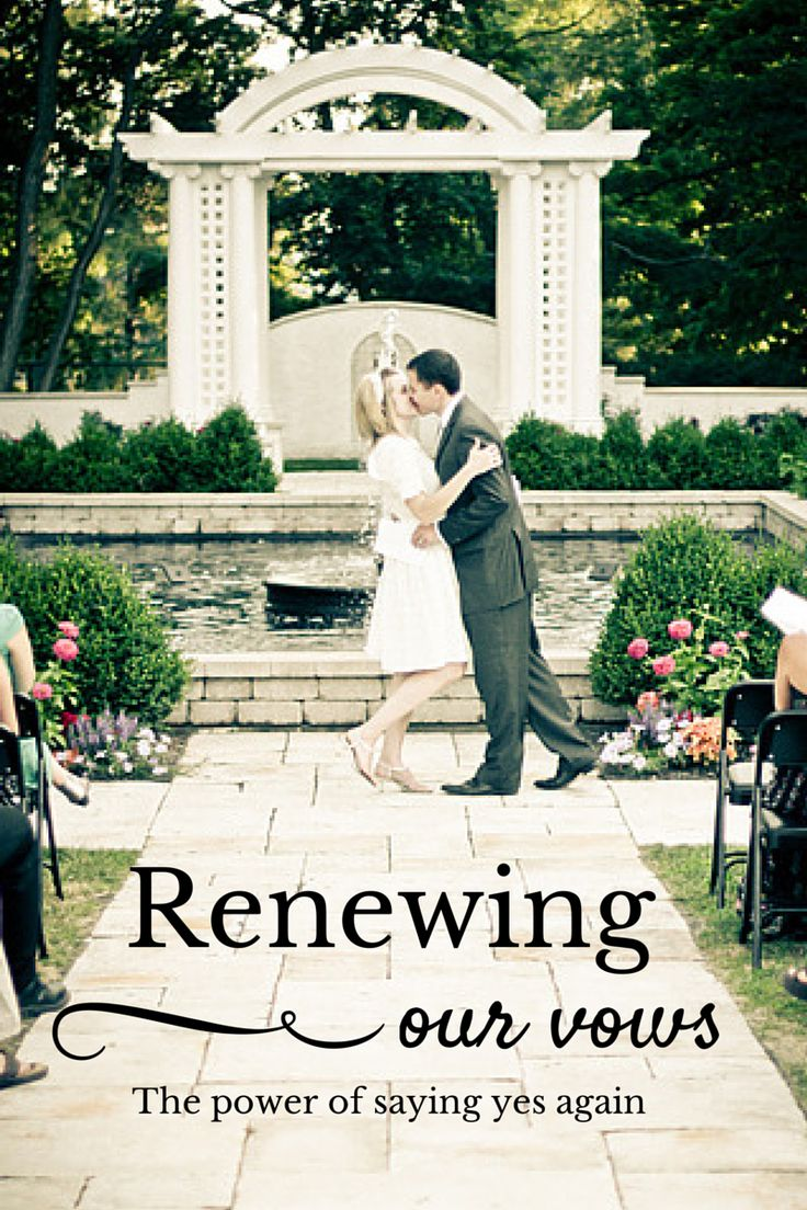 """The power of continuing to say """"yes!"""" in your marriage is so impacting. This is beautiful--not just for renewing vows but for marriage in general!"""