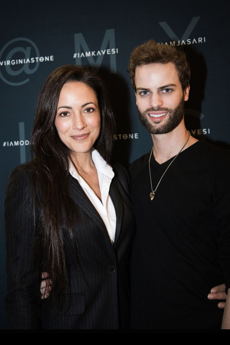 Virginia Stone® Founder/CEO with Austen Parker at FounderMade in NYC.  #virginiastone #mua #founder #beauty