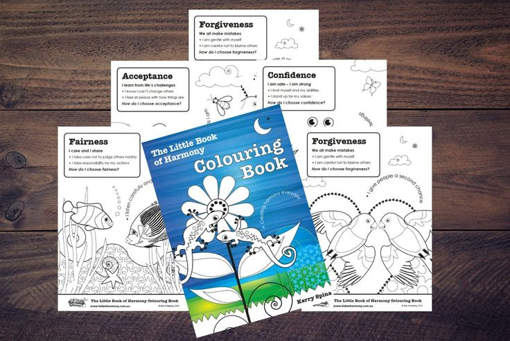 The Little Book of Harmony - A4 Colouring In Book