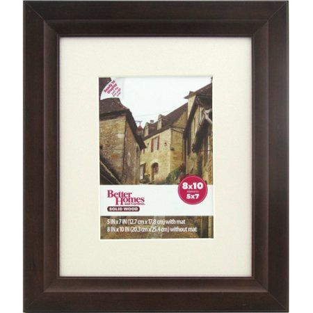 Better Homes and Gardens Studio 8x10 Wide Picture Frame, Mahogany - Walmart.com