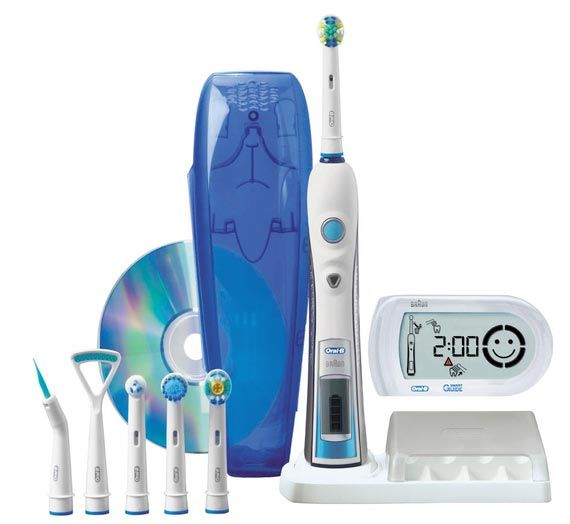 oral b braun toothbrush PHOTOS | Introducing the Braun Oral-B Triumph 5000 Electric Toothbrush.  It's the best brush! Our price: $125. Retail: $160!