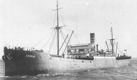 Everene (Latvian Steam merchant) - The cargo ship was torpedoed and sunk in the North Sea off the coast of Northumberland, United Kingdom by U-19 ( Kriegsmarine) with the loss of one of her 31 crew. Survivors were rescued by Dole ( Latvia) and the fishing vessel Evesham ( United Kingdom)