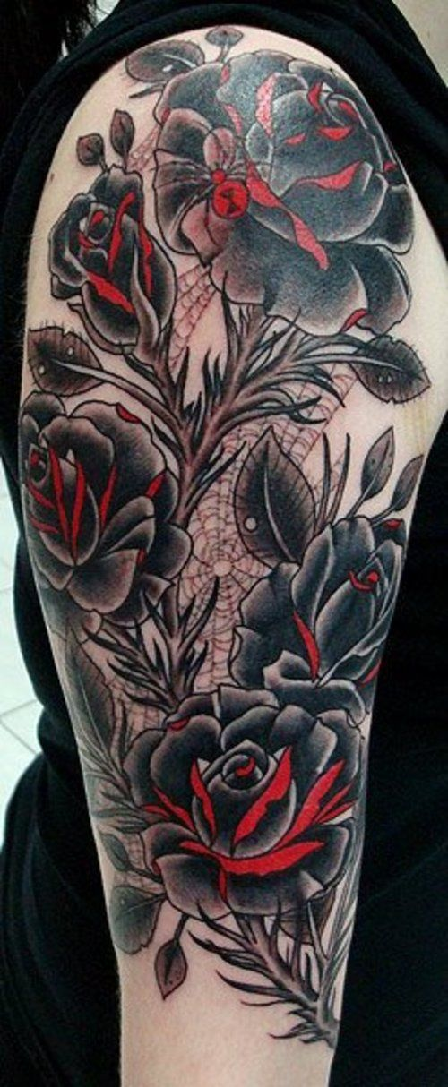 roses tattoo arm buscar con google new tattoo pinterest kunst designs tattoo ideen und. Black Bedroom Furniture Sets. Home Design Ideas