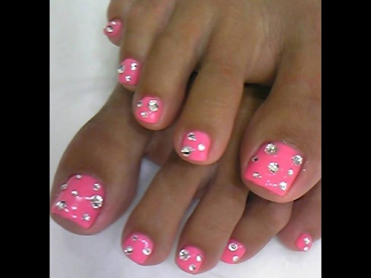 Diamond Pink Toe Nails Nails Db Pinterest Pink Toe