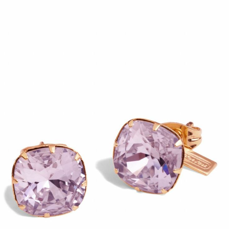 The Crystal Stud Earrings from Coach