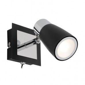Mercator - Alecia 9W Black LED Spotlight With Switch