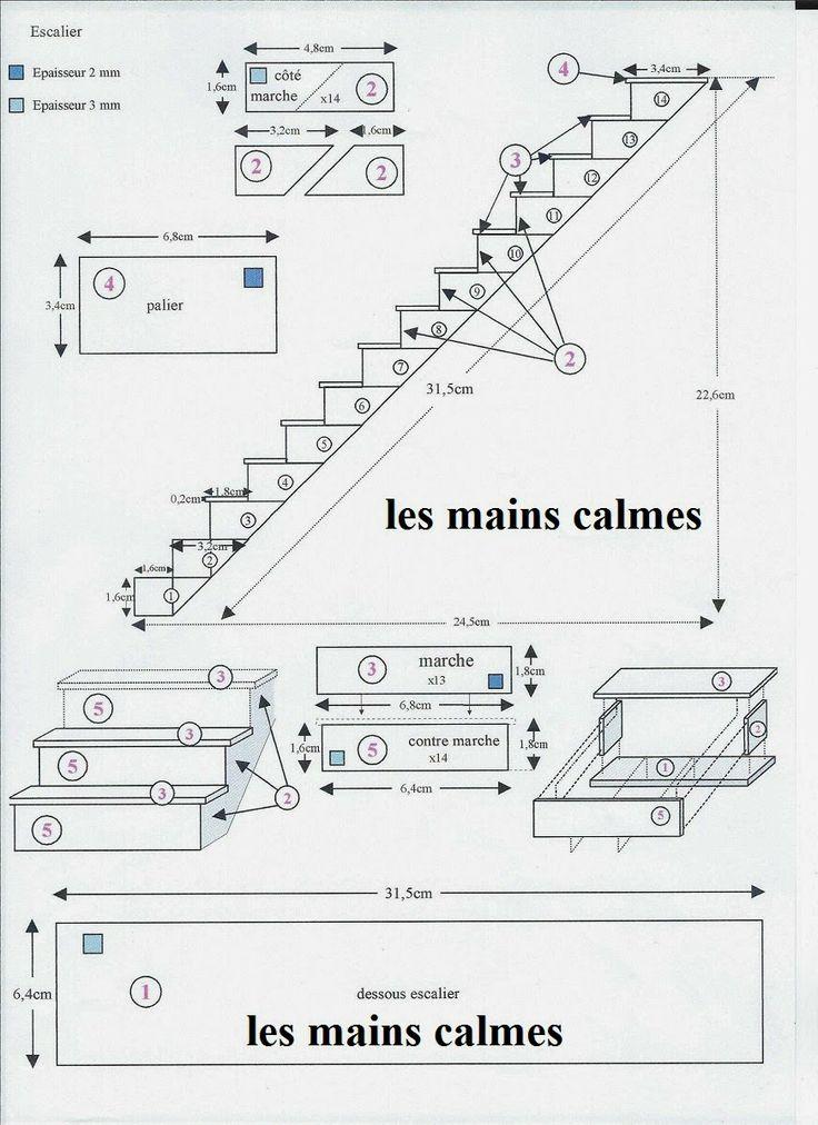 les mains calmes: Plan d'un escalier