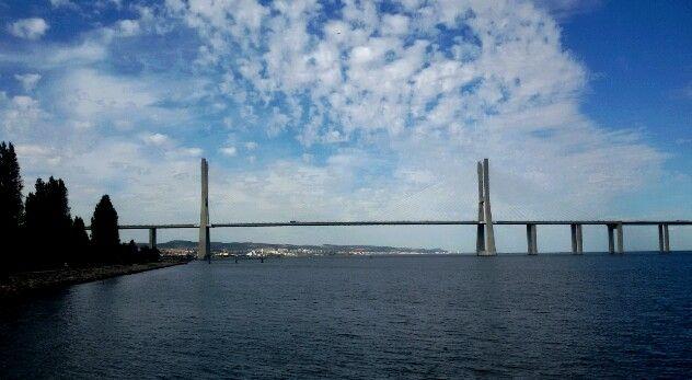 Lisboa, Portugal, Parque das Nações, Ponte Vasco da Gama, beautiful sky,  blue, peace