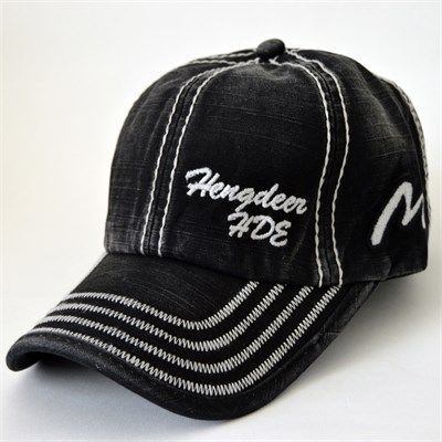 Hengdeer Erkek Yıkamalı Spor Şapka Siyah