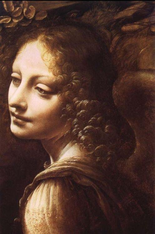 "Angel from da Vinci's ""Virgin of the Rocks"". Stunning"