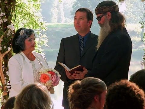 ▶ Duck Dynasty: Phil and Kay Renew Their Vows - YouTube ~ let the tears flow! For better, for worse...for richer, for poorer...may they continue to reach out to a lost world by their faith.  JO   http://simplysharingandserving.weebly.com/e-book.html