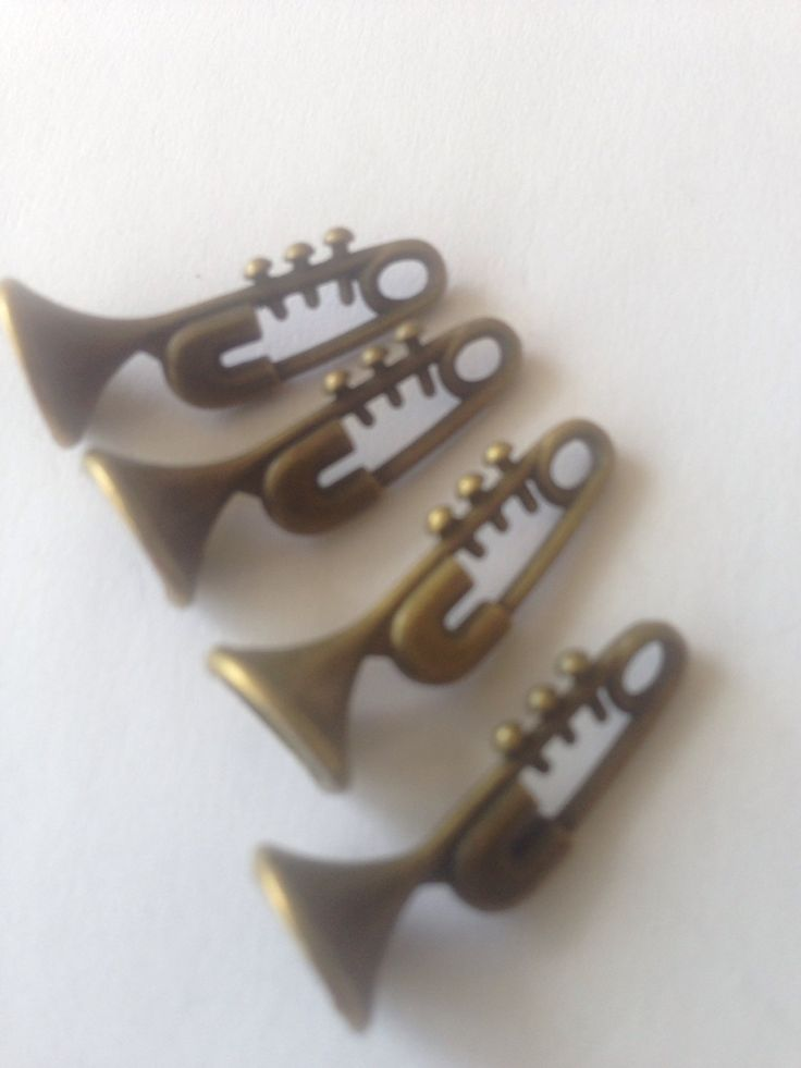 Trumpet Charms Pendant for jewellery making, Antique Bronze, music charms by FionasHobbyHut on Etsy