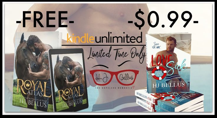 "|||HUGE SALE|||  LOVE SICK ($0.99) ➝  http://amzn.to/2ukz031 ROYAL ATLAS (FREE) ➝  http://amzn.to/2vBQSH2   NOW LIVE    ➜ #LoveSick, a #RomanticComedy by USA Today Best Selling Author HJ Bellus & 10 of her Street Team Members!     ""The Waves of Love Can Make You Sick""     A Reckless Series Spin-off   AVAILABLE ON #AMAZON & #KU!   Kindle US: http://amzn.to/2ukz031   Paperback: http://amzn.to/2ujcclJ   Kindle UK: http://amzn.to/2txLNSH   Kindle CA: http://amzn.to/2uk7Rx4   Kindle…"
