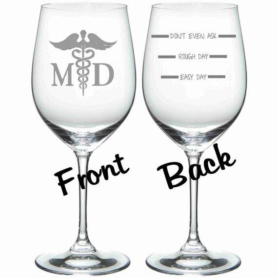 MD Medical Doctor FUNNY Glass Set of 2 Choice of Pilsner, Beer Mug, Pub, Wine Glass, Coffee Mug, Rocks, Water Glass Sand Carved