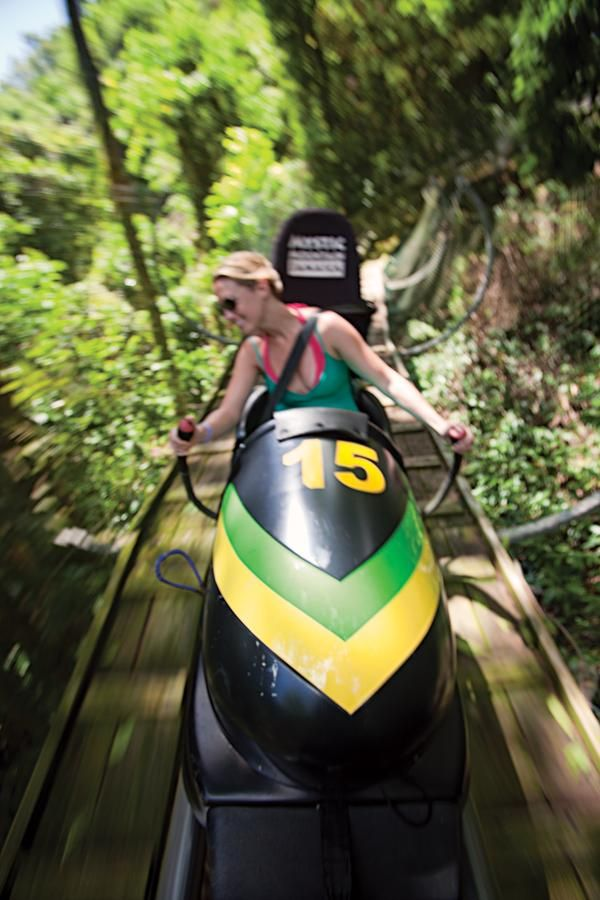 Top 10 things to do in Jamaica MUST DO RAIN FORREST BOBSLEDING!