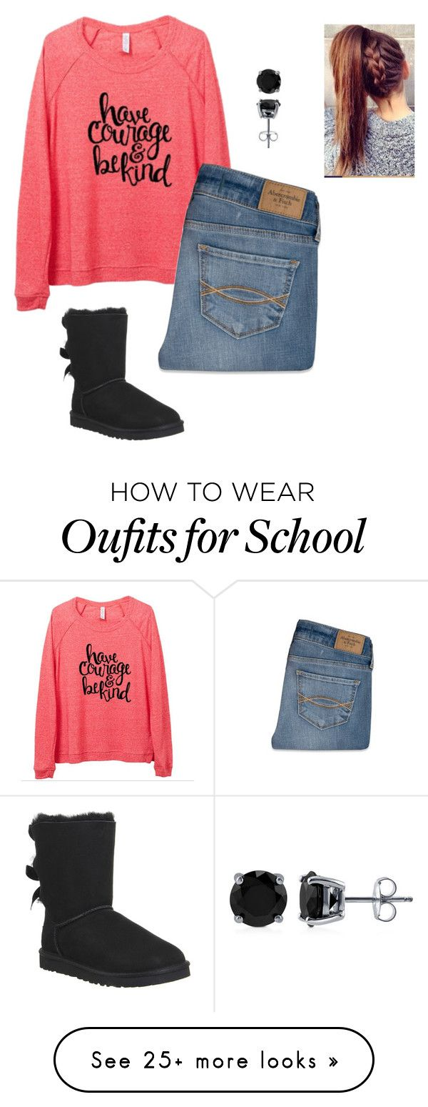 """""""Comfy School Outfit"""" by j-murphy-1 on Polyvore featuring Abercrombie & Fitch, BERRICLE and UGG Australia"""