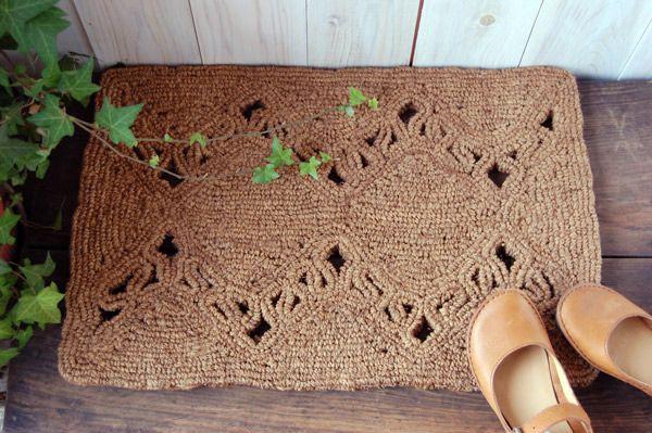 手編みココナッツコイヤーマット 玄関マット 北欧ナチュラルデザイン - フェアレード通販ショップAjee