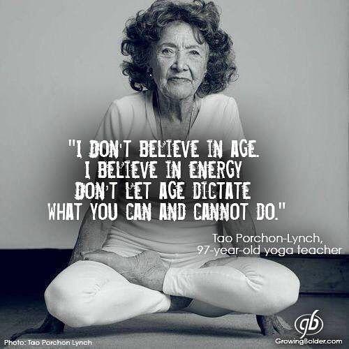 #ageaintnothingbutanumber #changeyourthoughtschangeyourlife #yoga