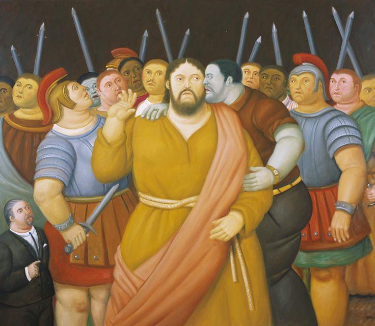 Il bacio di Giuda  (2010)/ The Kiss of Judas Olio su tela / Oil on canvas 138 x 159 cm Medellín, Museo de Antioquia