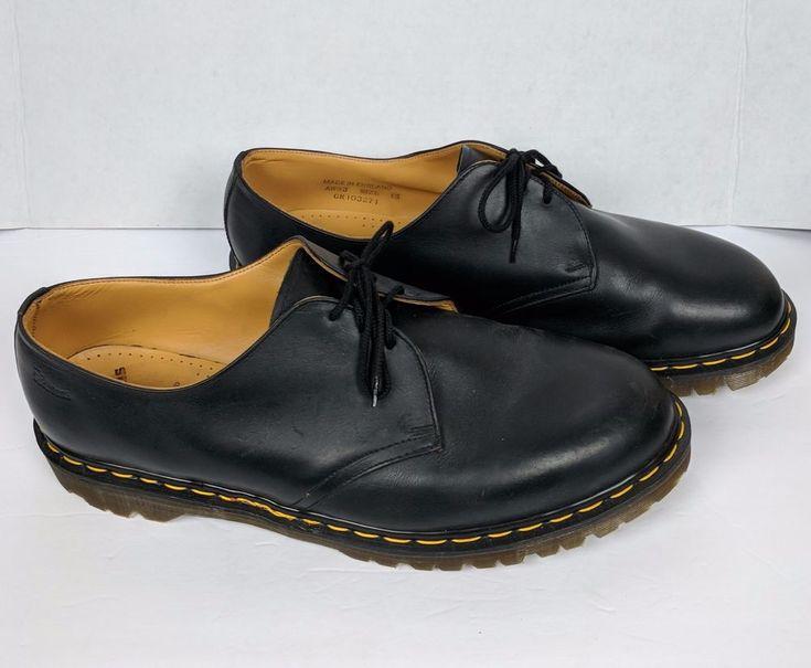 Dr Martens Oxfords Men Black Leather Lace Size 15 USA  Marked Made in England #DocMartins #Oxfords