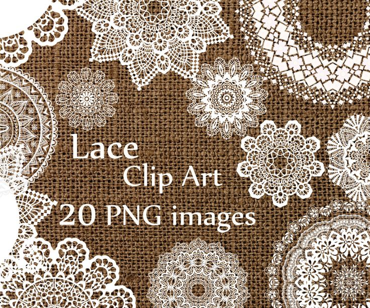 Digital lace clipart: LACE CLIP ART wedding lace white lace Lace Doilies Clipart Wedding Clip art Lace Vintage Doilies White Lace Overlay You will receive: - 20 individual PNG images - PNG format with a transparent background - High resolution (300dpi) - size about 8x 8 Use for