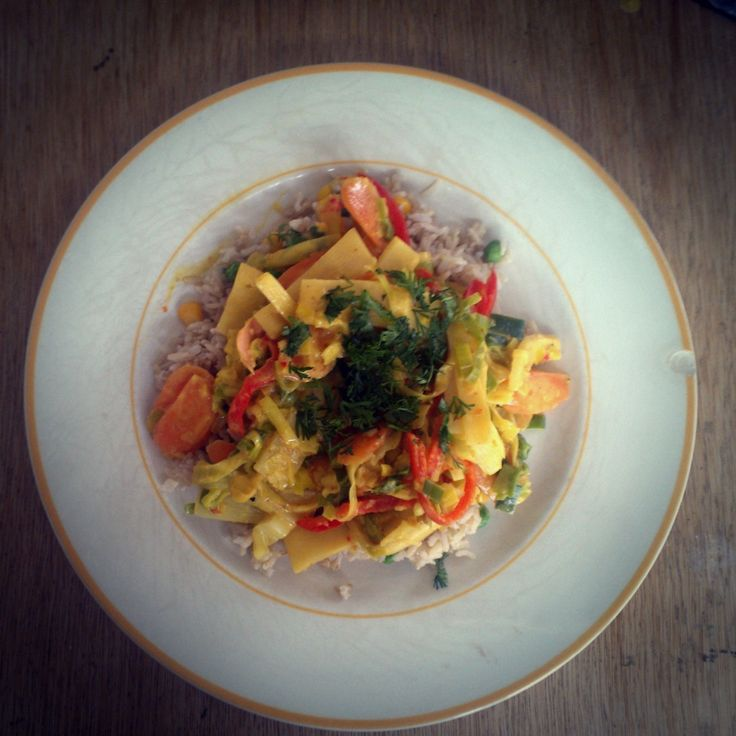 thai curry with homemade curry paste #vegan #HCLF