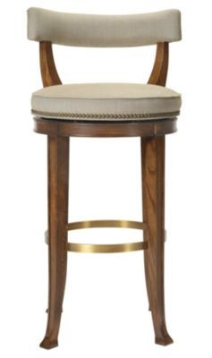 Newbury Swivel Curved Back Bar Stool from the 1911 Collection collection by  Hickory Chair Furniture Co