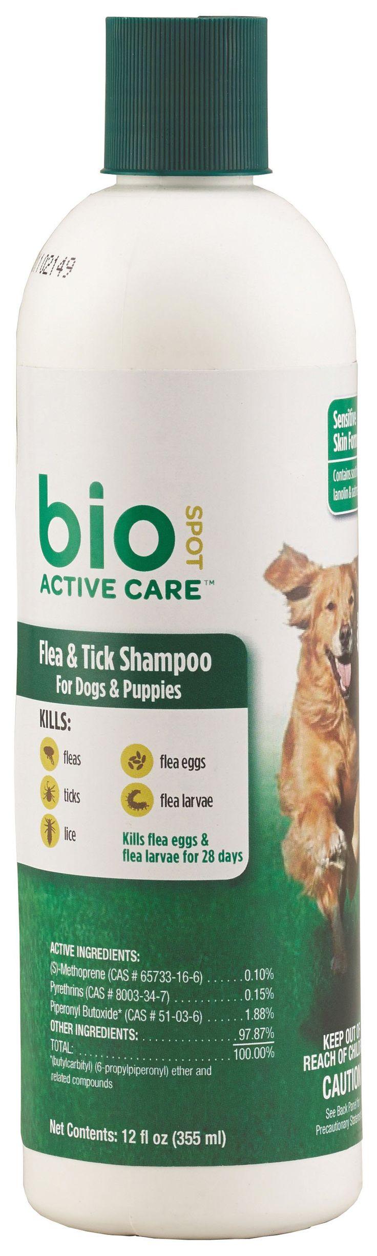 Farnam Pet-Bio Spot Active Care Flea & Tick Shampoo For Dogs 12 Oz