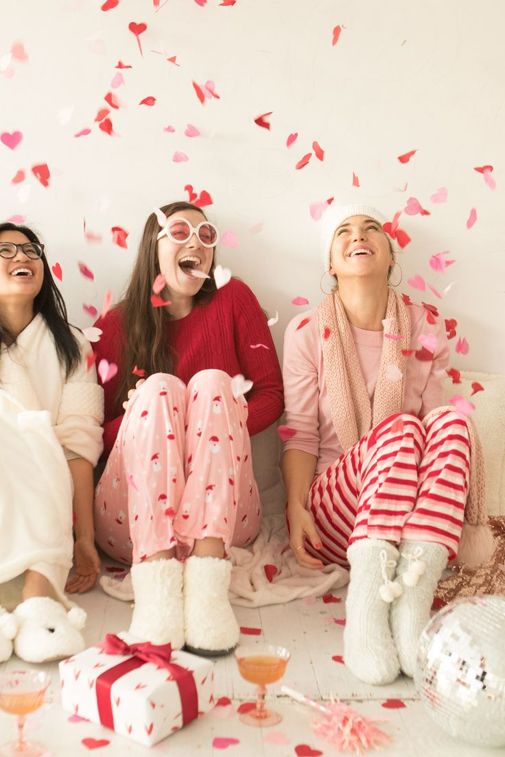 Check out how you can throw the ultimate ladies-only holiday pajama party! #partner
