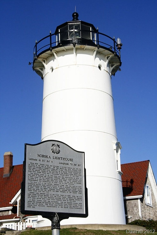Nobska lighthouse is located at the division between Buzzards Bay and Vineyard Sound in Woods Hole, Massachusetts on the southwestern tip of Cape Cod, Massachusetts, USA