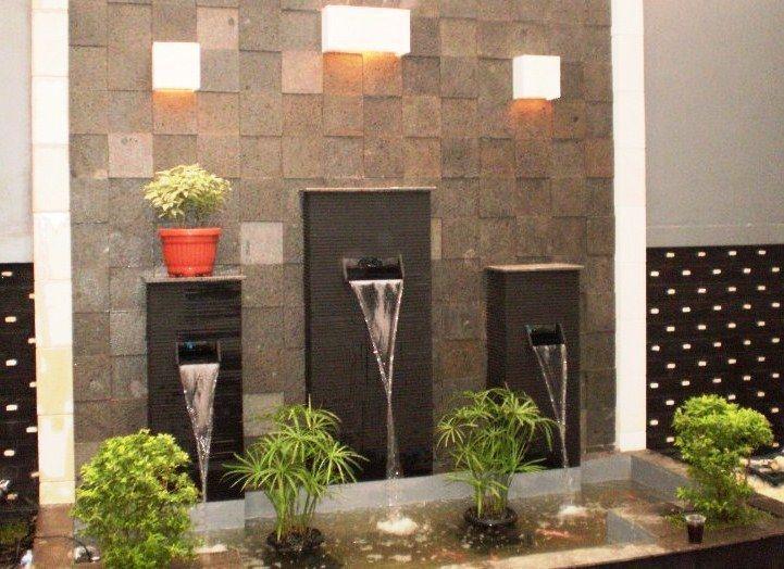 Taman Gemercik Air Dalam Rumah Dengan Air Mancur Mini Rumah Dan